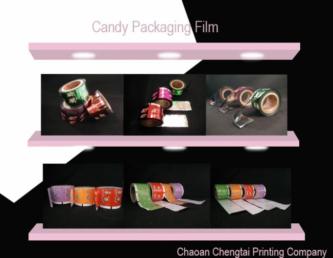 Candy Factory Use Auto Rollstock Film / Sugar Packaging Film Moisture Proof