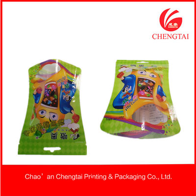 China Small Snack / powder Packaging Use Shaped Pouches With Heat Sealing factory