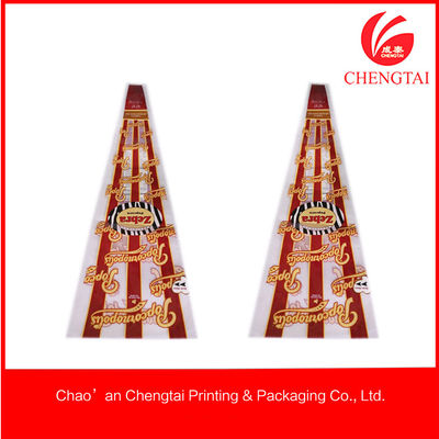 China Cone Shaped Bags , Custom Shaped  Pouches For Popcorn / Chips / Candy factory