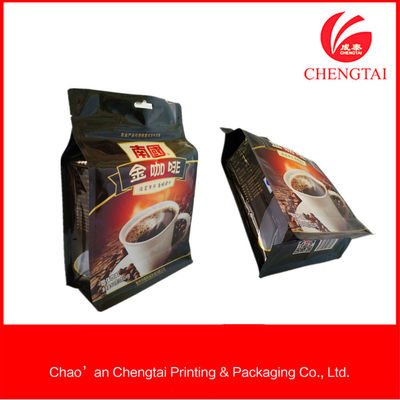China 408 G Square Bottom Coffee Packaging Bags With Light -Proof Resistance factory