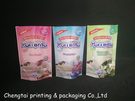 China 11* 17.5 Cm Stand Up Bags And Pouches Packing Liquid Detergent / Washing Powder distributor
