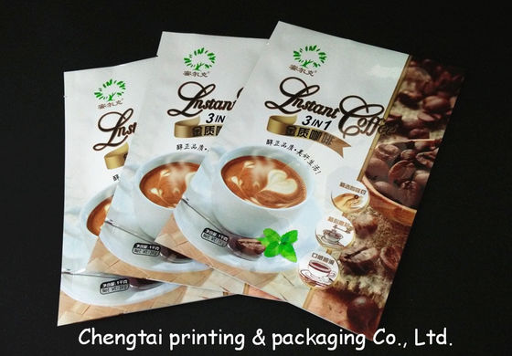 China Aluminum Non - Leakage Coffee Packaging Bags Light Resistant Plastic Coffee Bags factory