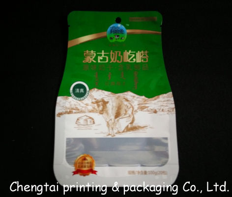 China Customized Biodegradable Shaped Pouch For Dried Fruit / Sugar QS Approval factory