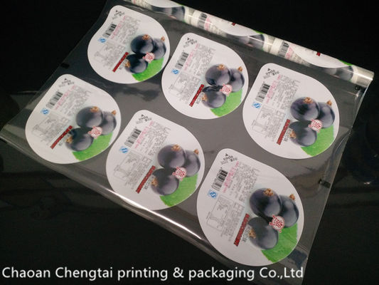 China Easy Tear Food Grade Cup Sealer Film For Jelly Non Toxic QS Certification distributor