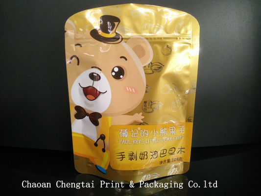 China Glossy Surface Food Packaging Pouches Shaped Pouch For Dried Fruit distributor