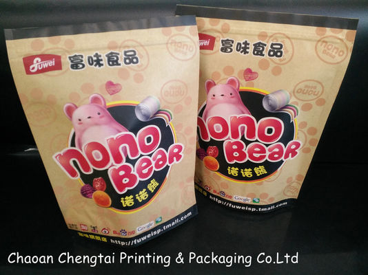 China Self Standing Candy Packaging Paper Bags Of Kraft Paper Laminated distributor